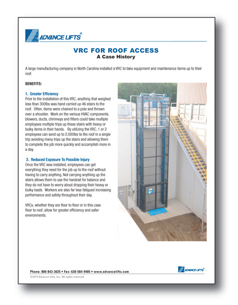 Case History VRC For Roof Access